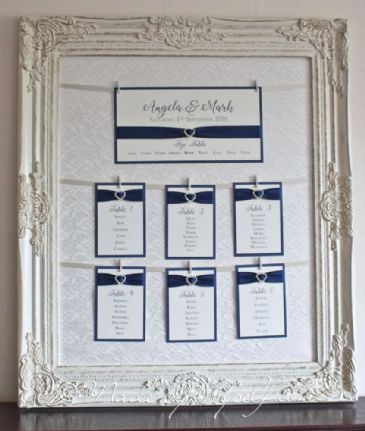 HIRE ONLY - Vintage Lace Table Plan with hanging table cards